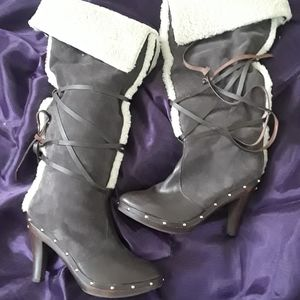 Michael Kors Shearling Leather Suede Boots US 11